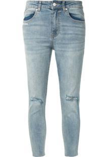 Izzue Calça Jeans Skinny Form Of Love - Azul