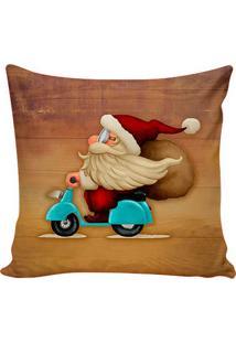 Capa Para Almofada Babbo Natale- Marrom Claro & Vermelhastm Home