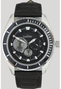Relógio Analógico Condor Masculino - Co6P29Io2P Preto - Único