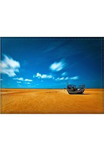 Jogo Americano Decorativo, Criativo E Descolado | Paisagem De Barco No Deserto - Tamanho 30 X 40 Cm