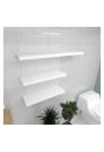 Kit 3 Prateleiras Banheiro Em Mdf Sup. Inivisivel Branco 2 60X20Cm 1 90X20Cm Modelo Pratbnb36