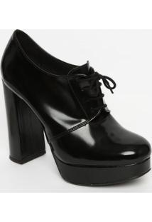 Ankle Boot Com Pespontos - Preta- Salto: 13Cmmya Haas