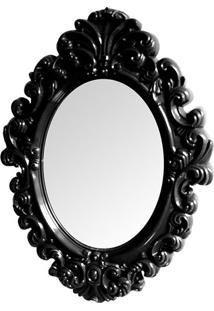 Espelho Oval Princess- Espelhado & Preto- 68X51X3,5Cbtc Decor