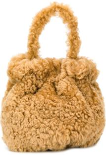 Staud Shearling Tote Bag - Neutro