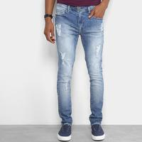 2ad1200519 Calça Jeans Skinny Cavalera Estonada Masculina - Masculino