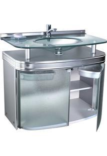 Gabinete Para Banheiro Com Cuba De Embutir Master 62,5X47,5Cm Cromado
