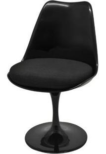 Cadeira Saarinen Sem Braco Preta Base Giratoria - 40557 - Sun House