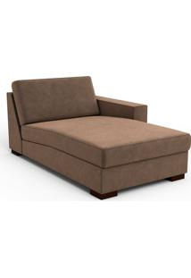 Chaise Lounge Compiene Suede Chocolate