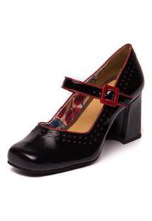 Sapato Boneca Retro Sophia - 5953 Preto / Amora