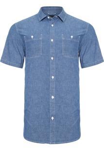 Camisa Masculina Carlow - Azul