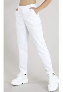Calça Branca Elastano feminina  f7d225495ee