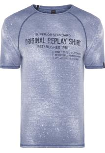 Camiseta Masculina Superior Std - Azul
