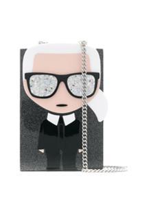 Karl Lagerfeld Clutch 'Minaudière' - Preto