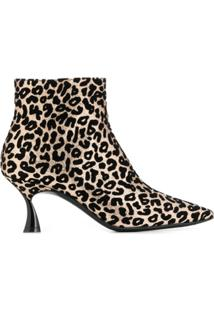 Casadei Ankle Boot Animal Print 'Thypno' - Dourado