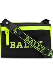 Bally Clutch Com Estampa De Logo - Preto