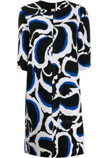 Marni Patterned Shift Dress - Preto