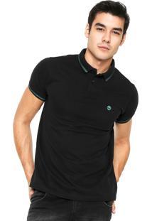 Camisa Polo Timberland Stripes Preta