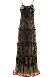 Alexis Vestido Longo Lussa Com Amarração - Preto