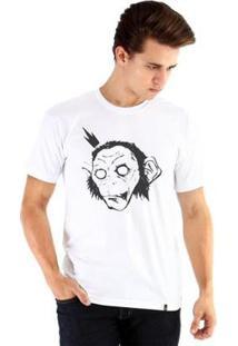 Camiseta Ouroboros Manga Curta King Monkey - Masculino-Branco