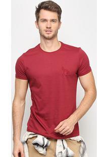 Camiseta Acostamento Básica Masculina - Masculino-Vinho
