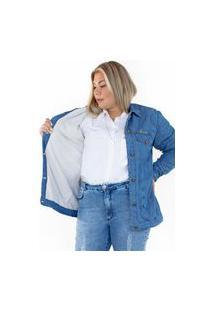 Jaqueta Forrada Jeans Ecolife Azul