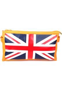 Bolsa Carteira Real Arte Bandeira Uk Amarela
