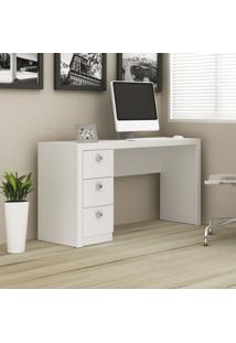 Mesa Para Computador 3 Gavetas Branco Me4102 - Tecno Mobili