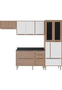 Cozinha Compacta Umit 10 Pt 4 Gv Nogueira E Branco