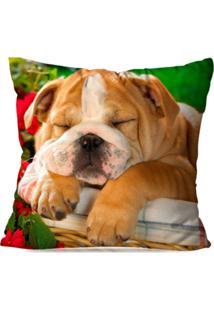 Capa De Almofada Avulsa Decorativa Bulldog Sleeper