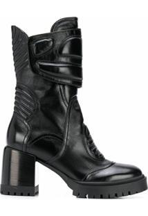 Casadei Ankle Boot Motox Com Salto 130Mm - Preto
