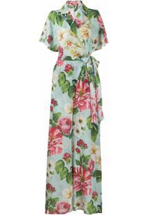 Dolce & Gabbana Macacão Com Estampa Floral - Azul