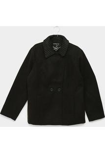 Jaqueta Queens Plus Size Lã Batida Feminina - Feminino