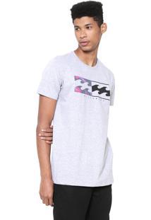 Camiseta Billabong Team Wave Cinza
