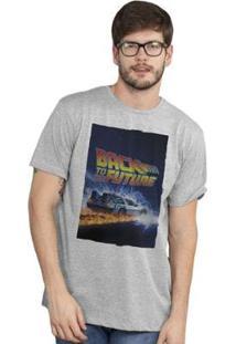 Camiseta Bandup! Back To The Future Delorean - Masculino-Mescla
