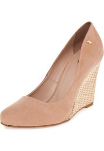 Scarpin Polo London Club Anabela Nude