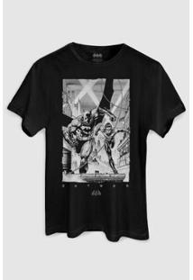 Camiseta Bandup Tracing Batman E Robin - Masculino-Preto