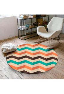 Tapete Redondo Wevans Chevron Color 84Cm