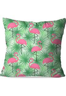 Capa De Almofada Avulsa Decorativas Flamingo Green 35X35