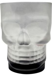 Caneca 500 Ml Caveira Skull Mug Com Base Preta