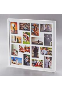 Painel Collection Para 16 Fotos 10X15 Branco 60X60X4Cm