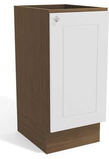 Balcão De Cozinha 40 Cm Provenzza 1 Porta G601 Jacarandá/Branco - Kappesberg