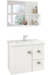 Conjunto De Banheiro Hortencia Branco