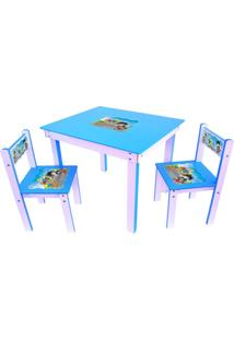 Conjunto Mesa Com 2 Cadeiras Junges Azul