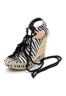 Sandália Anabela Ellas Online Zebra