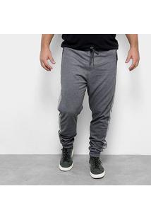 Calça Moletom Delkor Plus Size Masculina - Masculino-Chumbo
