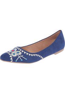 Sapatilha Fiveblu Bordado Azul-Marinho
