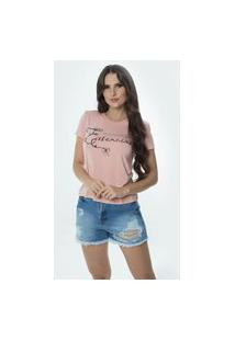 T-Shirt Daniela Cristina Gola U 02 602Dc10277 Rosa