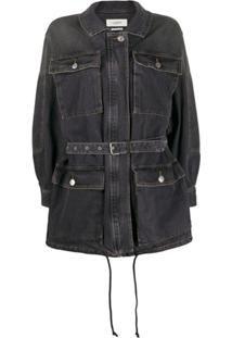 Isabel Marant Étoile Belted Denim Jacket - Preto