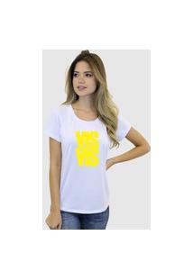 Camiseta Suffix Blusa Branca Sem Estampa Basica Gola Redonda Estampa Vis A Vis