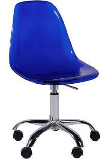 Cadeira Eames Dkr- Azul & Prateada- 93X47X41Cm- Or Design